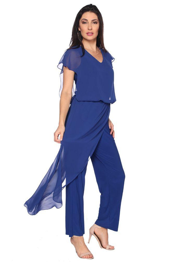 Royal Overlay Jumpsuit