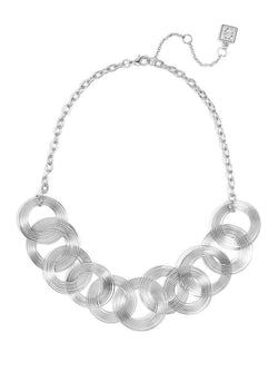 Silver Coil Bib Necklace