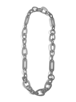 Gray Lucite Links Necklace