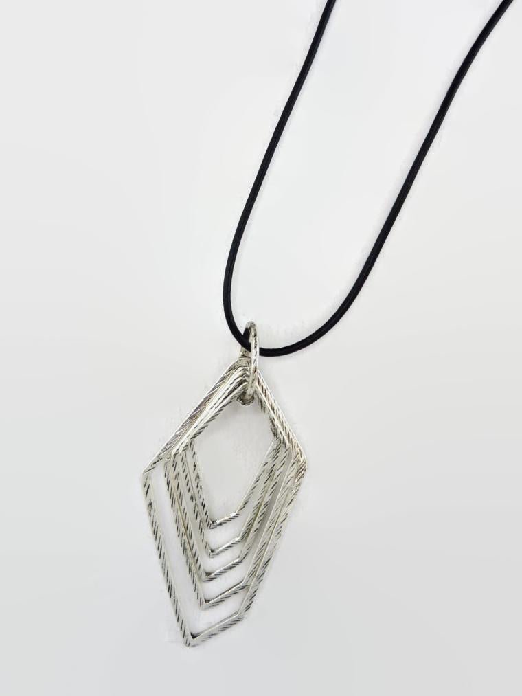 Five Trapezoid Pendant Necklace