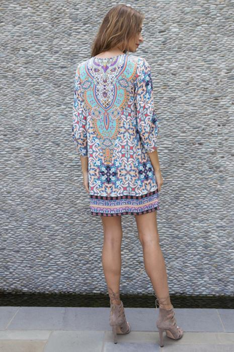 Amalfi Silk Tunic Dress