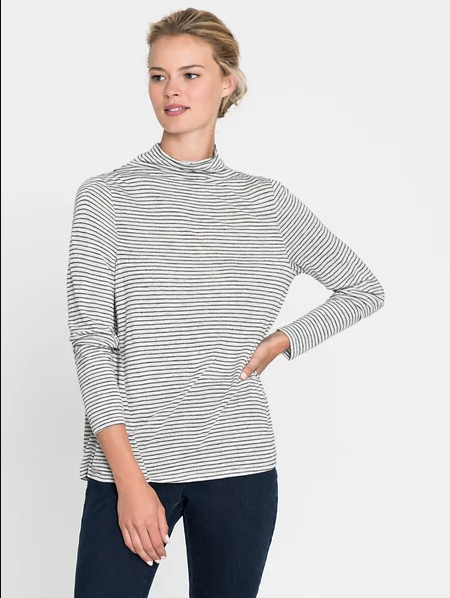 Lightweight Stripe Mock Top