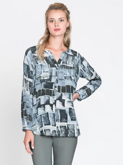 Geo Blocks Easy Silk Top