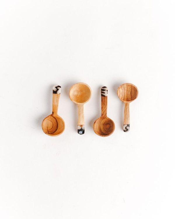 Olive Wood S/4 Teaspoon