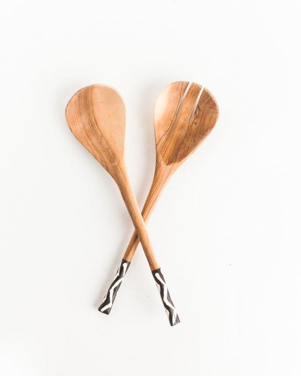 Kamba Wood Salad Server
