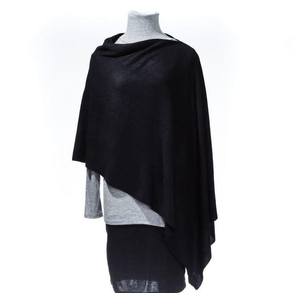 Black 5-Way Poncho