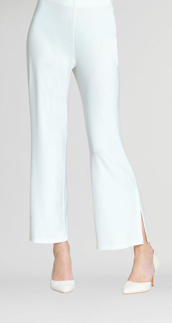 Ivory Side Slit Ankle Pant