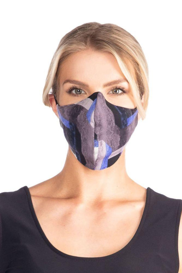 Purple Block Stretch Face Mask