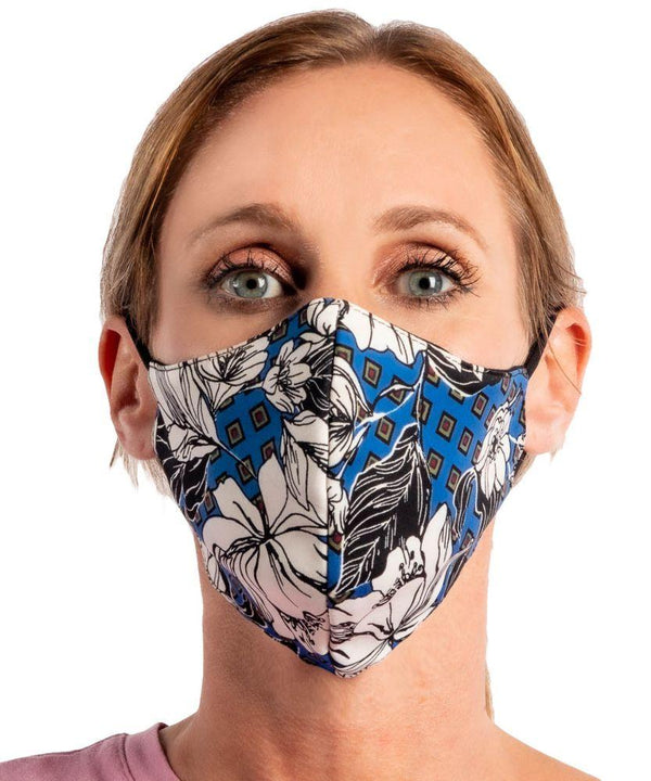 Blue Magnolia Stretch Face Mask