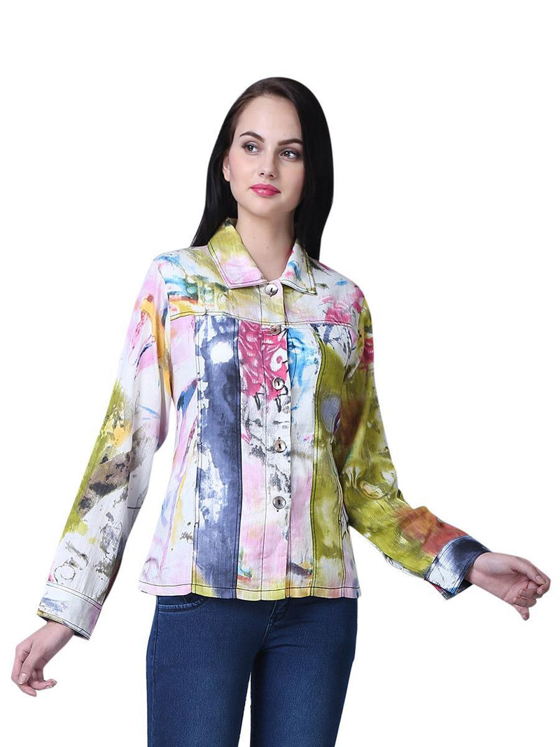 Light Abstract Print Jacket