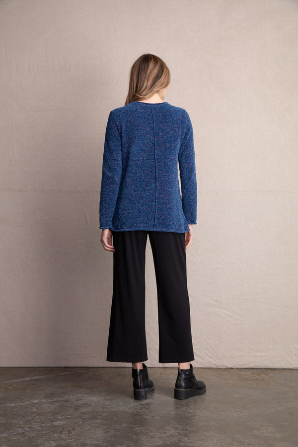 Chenille Exposed Seam Sweater