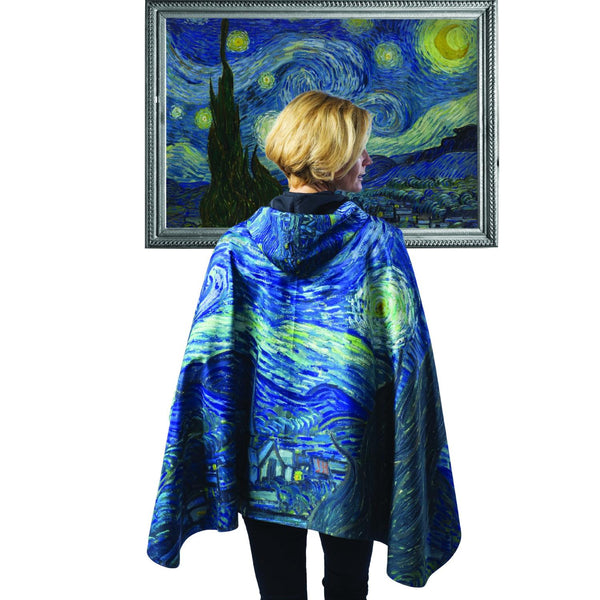Van Gogh Starry Night Rain Poncho