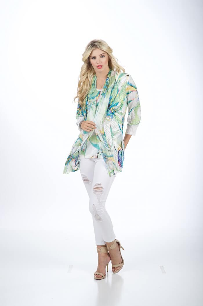 Tropical Jacket with Attached Tank