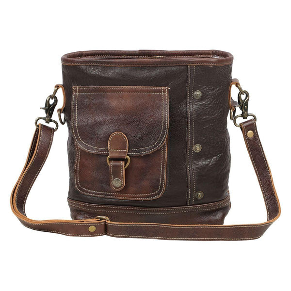 Brown Leather Cargo Bag