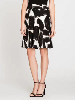 Flowy brush Strokes Skirt