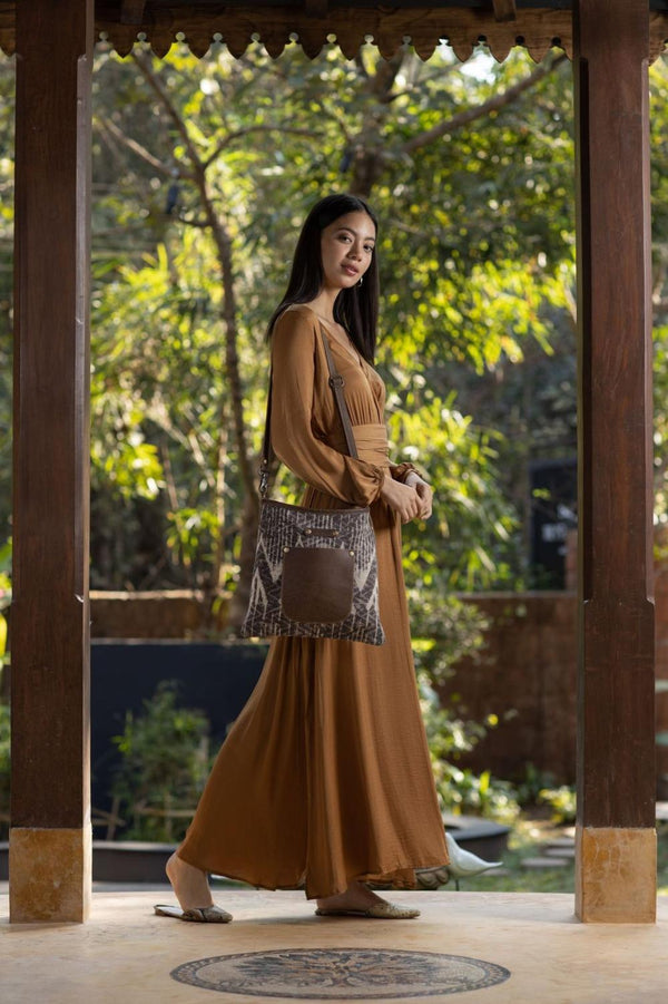 Brown Batik Shoulder Bag
