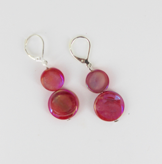 Mother of Pearl Dangle Earrings