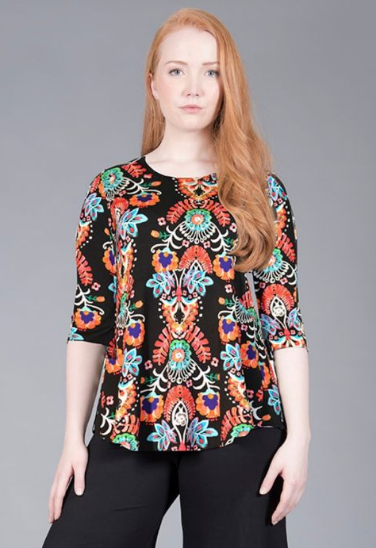 3/4 Sleeve Multi Swing Top