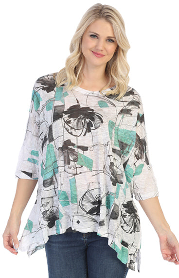 Crushed Scribbles Dolman Top