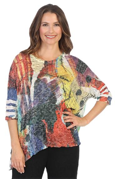Crushed Artsy Dolman Top