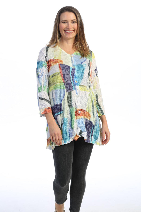 Plus Palette Button Tunic