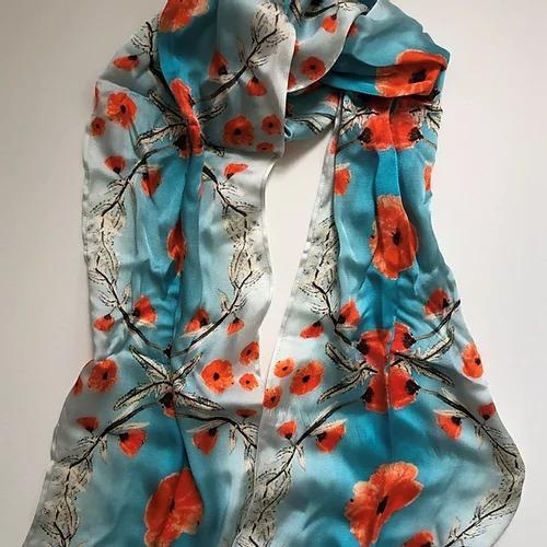 Poppies Silk Scarf