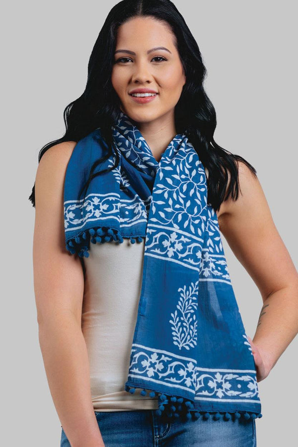 Vines Cotton Scarf