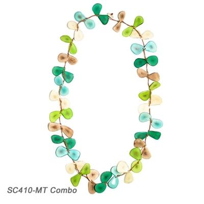 Seagreen Tagua Chip Necklace