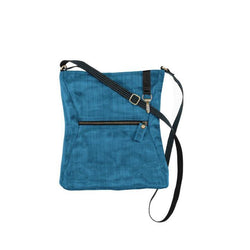 Fair Trade Teal Xbody Bag