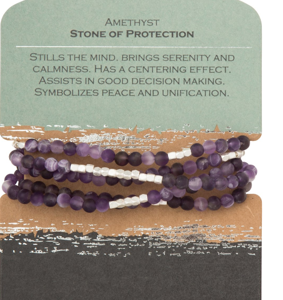 Amethyst - Stone of Protection Wrap
