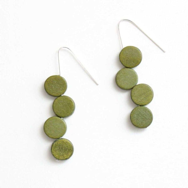 Green Dots Earring