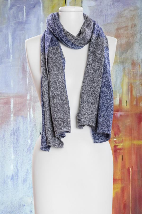 Heathered Colorblock Cozy Scarf