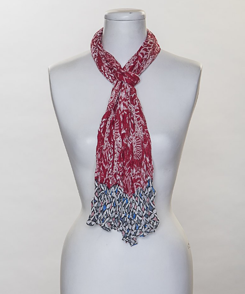 Red Geo Mix Scarf