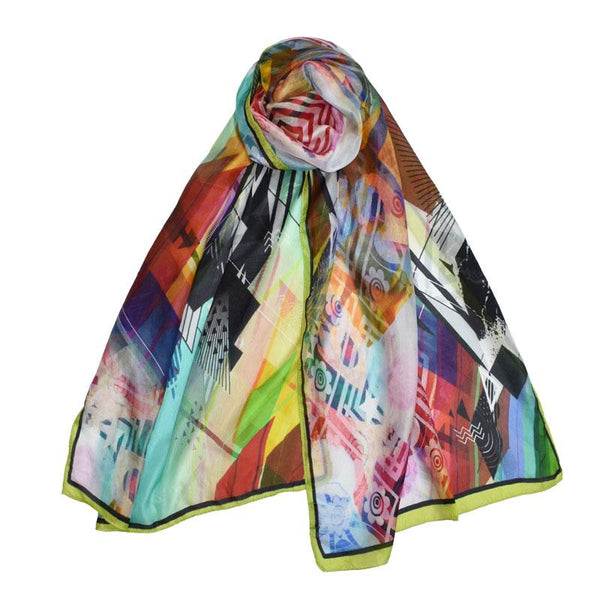 Enrique Colorful Abstract Scarf