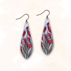 Red Calla Lily Earring