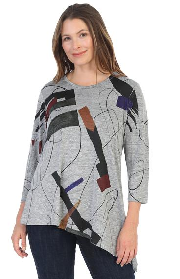 Abstract Asymetric Tunic