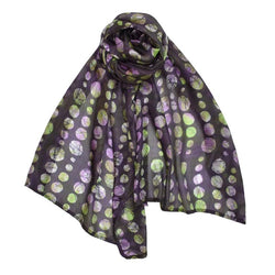 Purple Silk Batik Scarf