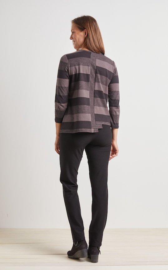 Graphite Stripe Top