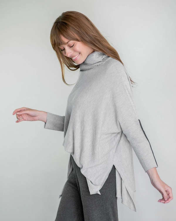 Gray Love-Cycled Turtleneck