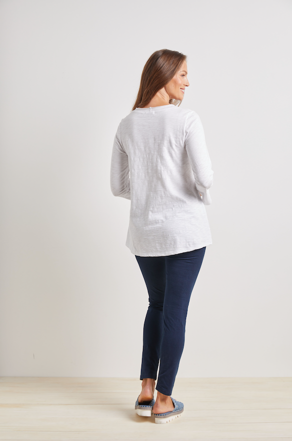 White Pieced Cotton Tunic