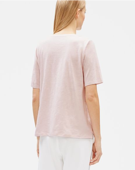Cotton V-Neck Slub Tee