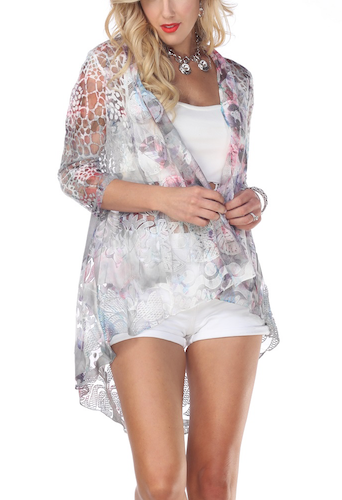Sheer Pink & Silver Hilo Jacket