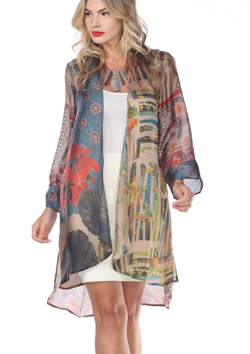 Silky Floral Duster