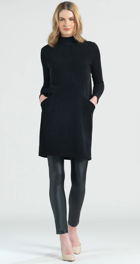 Twill Sweater Tunic Dress