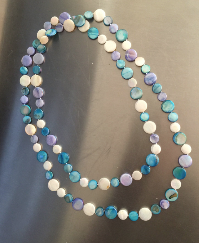 Long Multi Color MOP Necklace