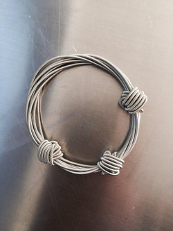 Silver Knot Piano Wire Bracelet