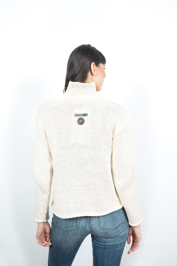 Denim Patch Sweater