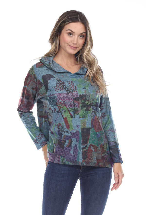 Happiness Fleece Hood Top
