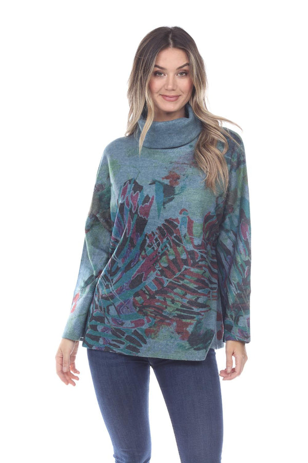 Reef Life Cowl Fleece Top