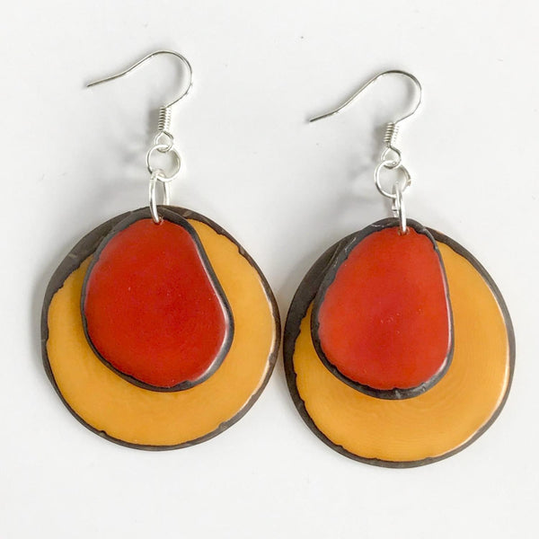 Orange Duet Earring